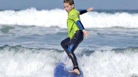 Kids Surfing Wallpaper