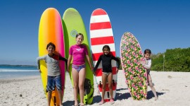 Kids Surfing Wallpaper Free