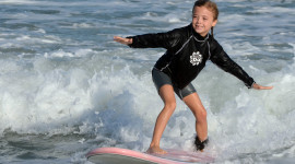 Kids Surfing Wallpaper HQ
