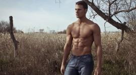 Male Model Field Wallpaper