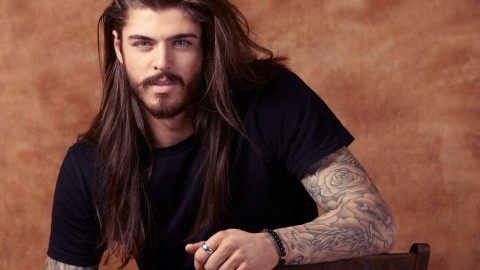 Male Model Long Hair wallpapers high quality