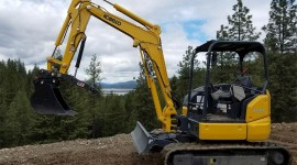 Mini Excavator Wallpaper Download Free