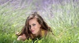 Model Girl Grass Photo Free