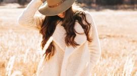 Model Girl Grass Wallpaper For IPhone