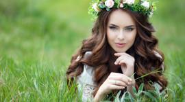 Model Girl Grass Wallpaper Gallery