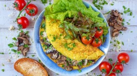 Mushroom Omelets Best Wallpaper