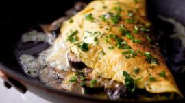 Mushroom Omelets Photo