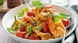 Noodles With Tomatoes High Quality Wallpaper