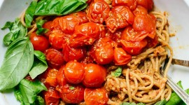 Noodles With Tomatoes Wallpaper For IPhone 6