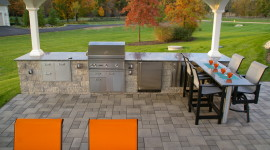 Outdoor Kitchen Wallpaper Background