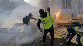 Protests In France Wallpaper Background