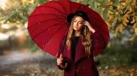 Rain Model Girl Photo