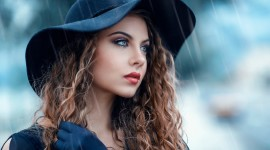 Rain Model Girl Wallpaper