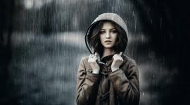 Rain Model Girl Wallpaper Free