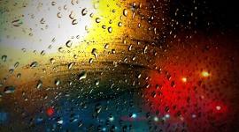 Rainy Window Wallpaper Background