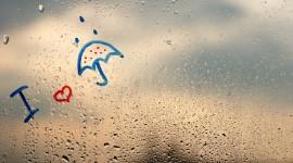 Rainy Window Wallpaper HD
