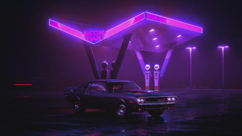 Retrowave wallpapers high quality