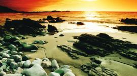 Rocky Beach Desktop Wallpaper HD