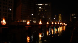 Waterfire Desktop Wallpaper For PC