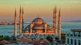4K Mosque Evening Desktop Wallpaper