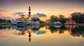 4K Mosque Evening Photo