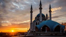 4K Mosque Evening Photo Free
