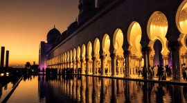 4K Mosque Evening Wallpaper Download Free