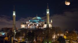 4K Mosque Evening Wallpaper HQ