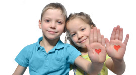 Children Hand Hearts Image#2