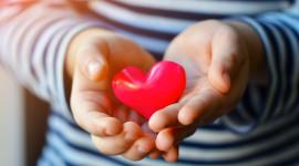 Children Hand Hearts Wallpaper