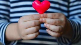 Children Hand Hearts Wallpaper Full HD