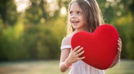 Children Hand Hearts Wallpaper HQ