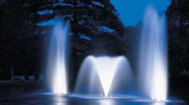 Fountain Lighting Desktop Wallpaper