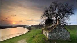 House River Sunset Photo Download