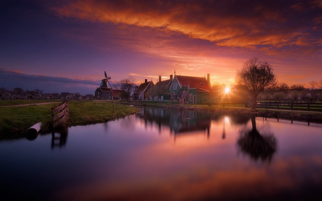 House River Sunset wallpapers HD