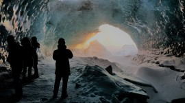 Ice Cave Desktop Wallpaper For PC