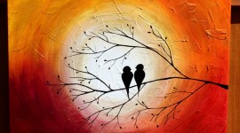 Love Birds Wallpaper HD