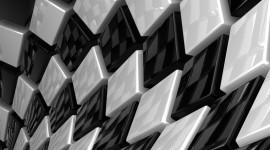 Monochrome Cubes Wallpaper Desktop Wallpaper Free
