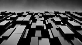 Monochrome Cubes Wallpaper High Quality Wallpaper