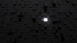 Monochrome Cubes Wallpaper Wallpaper