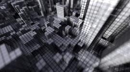 Monochrome Cubes Wallpaper Wallpaper Download Free