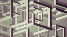 Monochrome Cubes Wallpaper Wallpaper Full HD