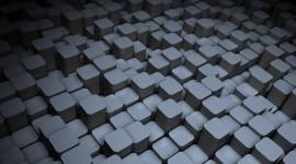 Monochrome Cubes Wallpaper Wallpaper HD