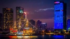 Night Sailboat Lights Photo Download