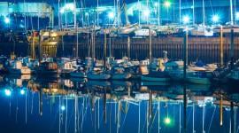 Night Sailboat Lights Wallpaper Full HD
