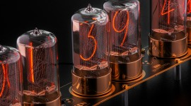 Nixie Tube Clock Desktop Wallpaper HD
