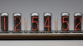 Nixie Tube Clock Desktop Wallpaper HQ