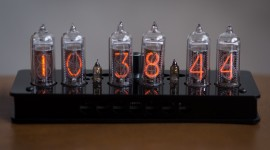 Nixie Tube Clock High Quality Wallpaper