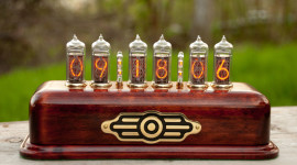 Nixie Tube Clock Wallpaper