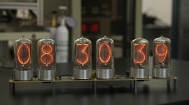 Nixie Tube Clock Wallpaper Download